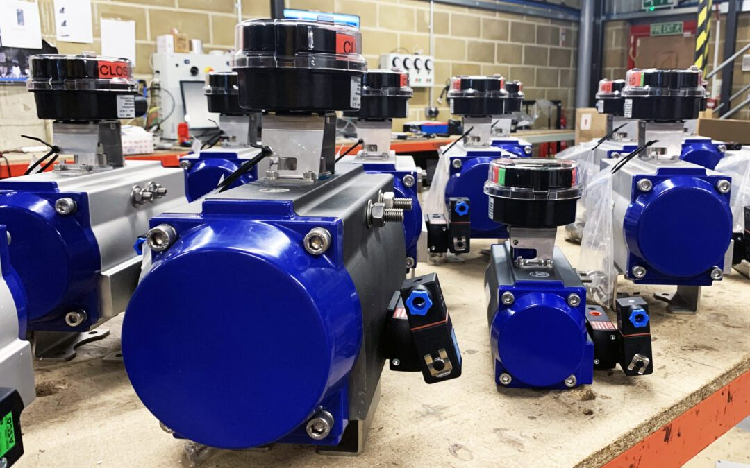 Automation of existing valves at chemical process site